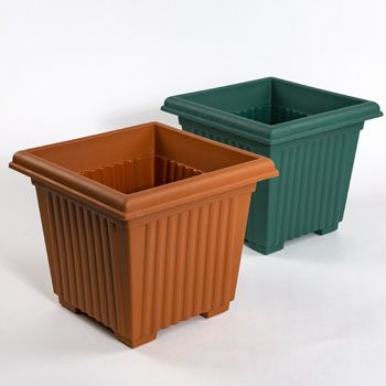 48 Units Of Planter 12 Inch Square Column Design 2 Colors No Punched