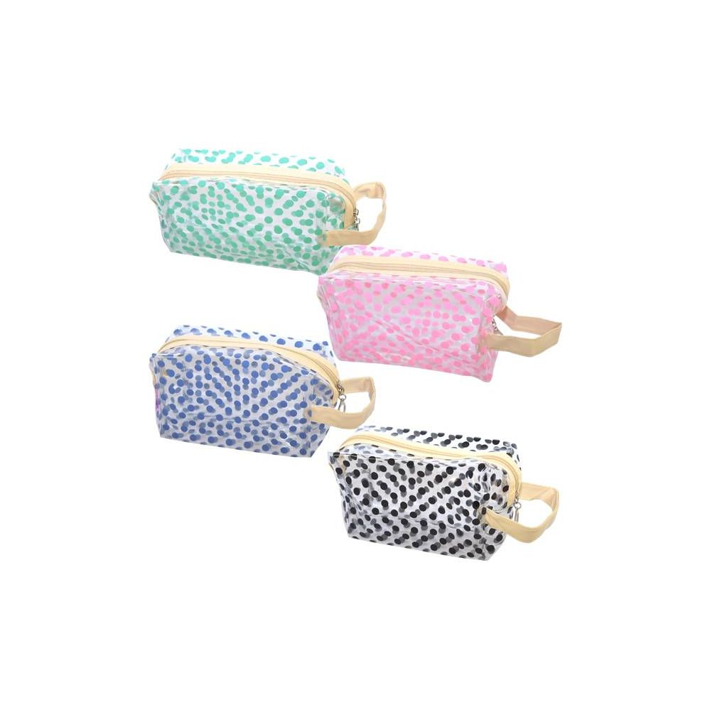 48 Units of Cosmetic Bag Assorted Colors Big - Cosmetic Cases