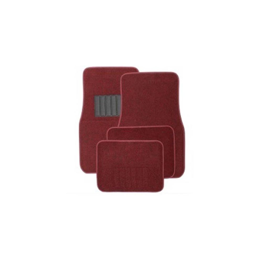 20 Units of 4PC CARPET FLOOR MATS SOLID RED 2PC FRONT & 2PC BACK MATS - AUTO SUNSHADES/MATS