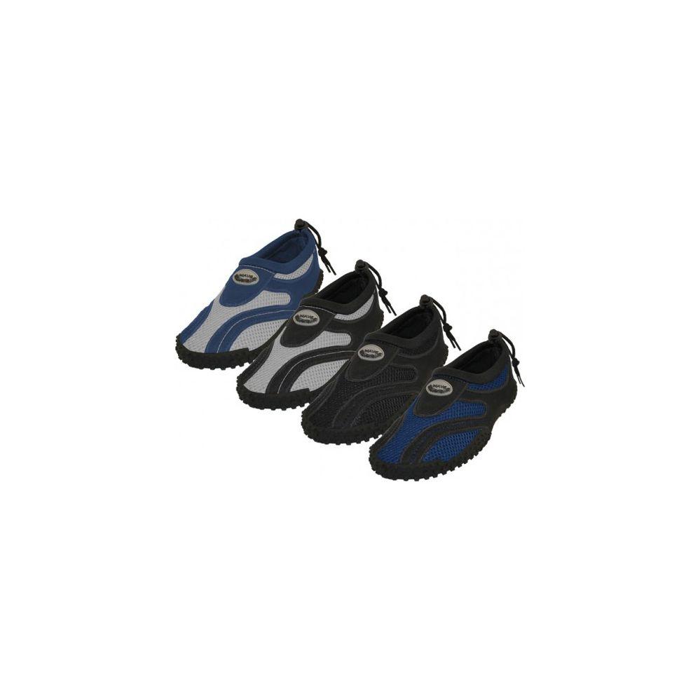 "36 Units of Men's ""Wave"" Water Shoes in Assorted Colors - Mens Aqua Shoes"
