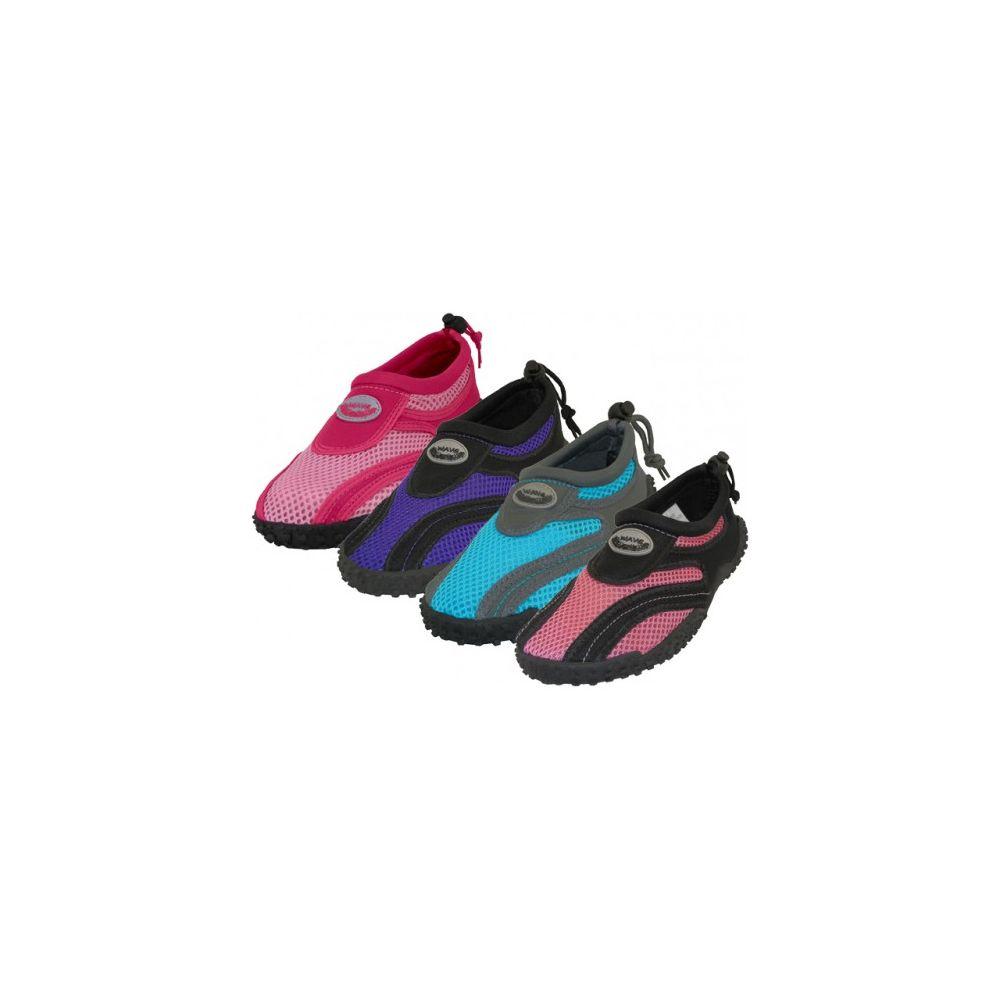 "36 Units of Women's ""Wave"" Aqua Socks in Assorted Colors - Womens Aqua Shoes"
