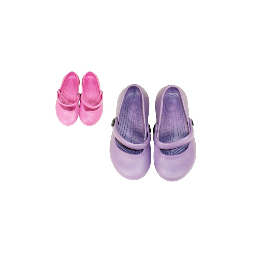 72 Units of Girl's Slippers With Strap - Kids Clogs