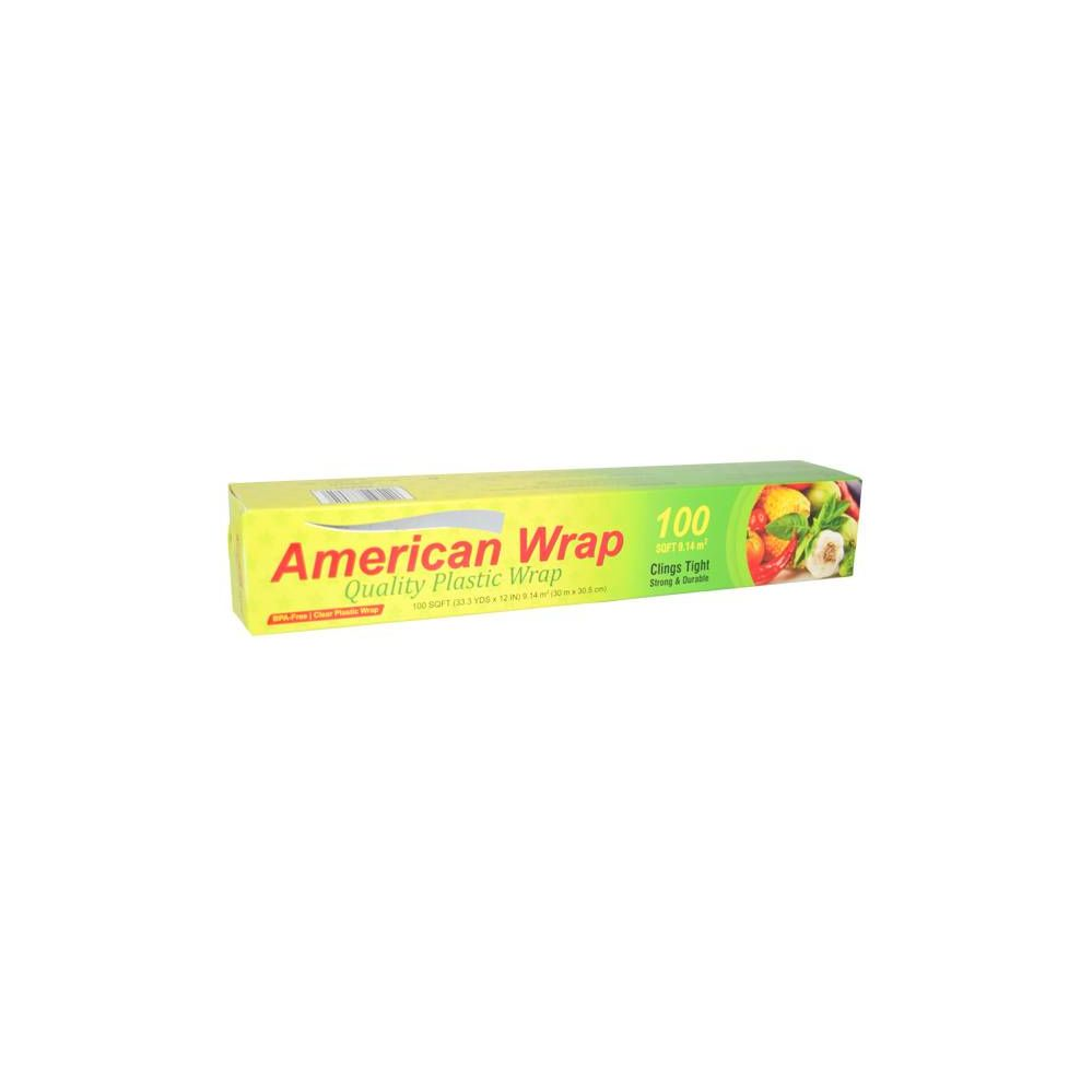 48 Units of American Wrap Plastic Wrap 100 SQ FT - Kitchen