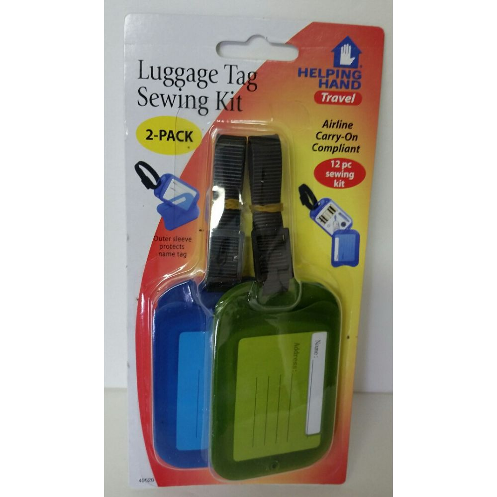 72 Units of 2-Pack Luggage Tag with Sewing Kit