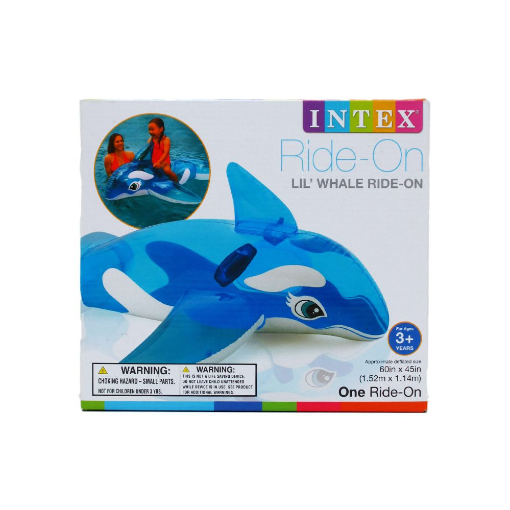 "12 Units of Intex 60""x45"" LIL' WHALE RIDE-ON W/ HANDLES AGE 3+ IN COLOR BOX - SUMMER TOYS"