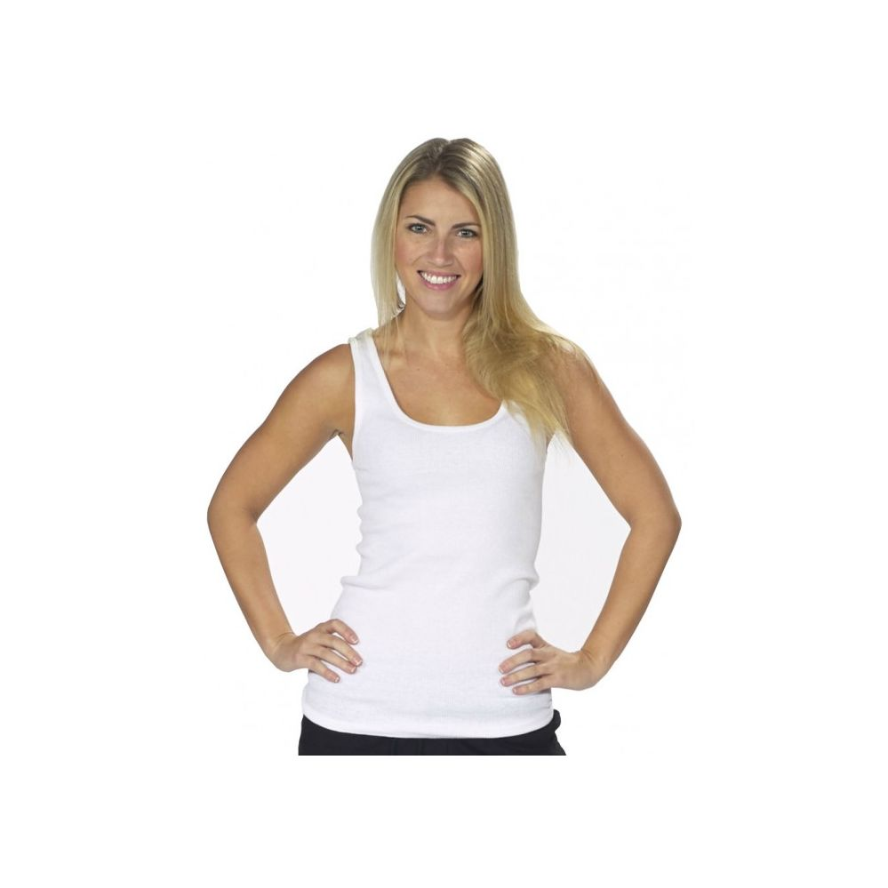 c852133d8e5a6 72 Units of WOMEN S WHITE RIBBED TANK TOPS - Womens Active Wear - at -  alltimetrading.com