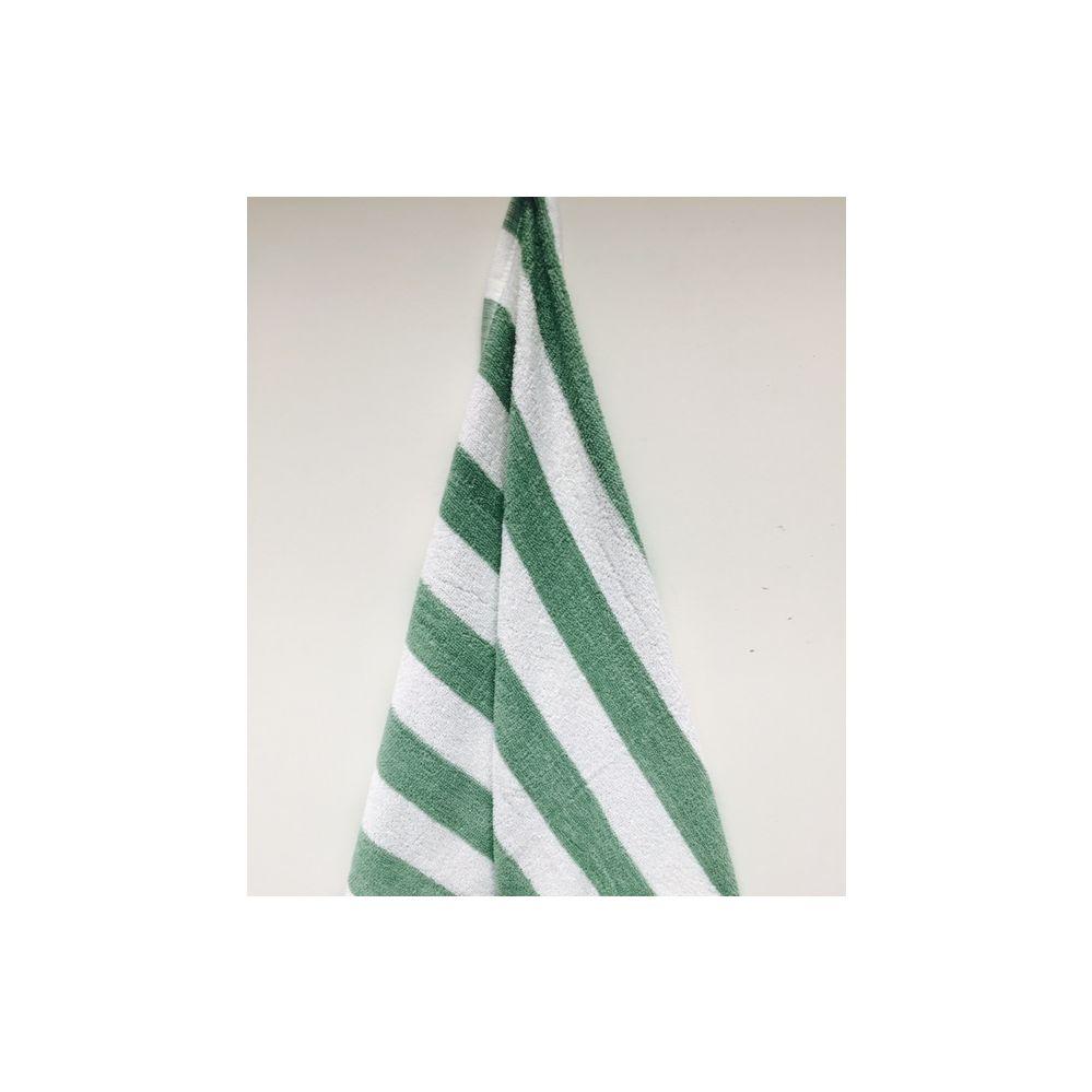 24 Units of Economy Stripe Green 30x60 Cabana Beach Towel