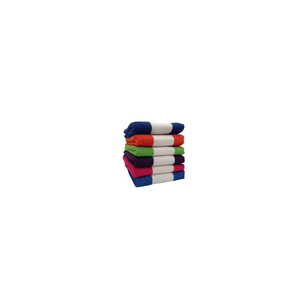 12 Units of BK Terry Cabana Stripe 6 Assorted Colors 30x60 Beach Towel