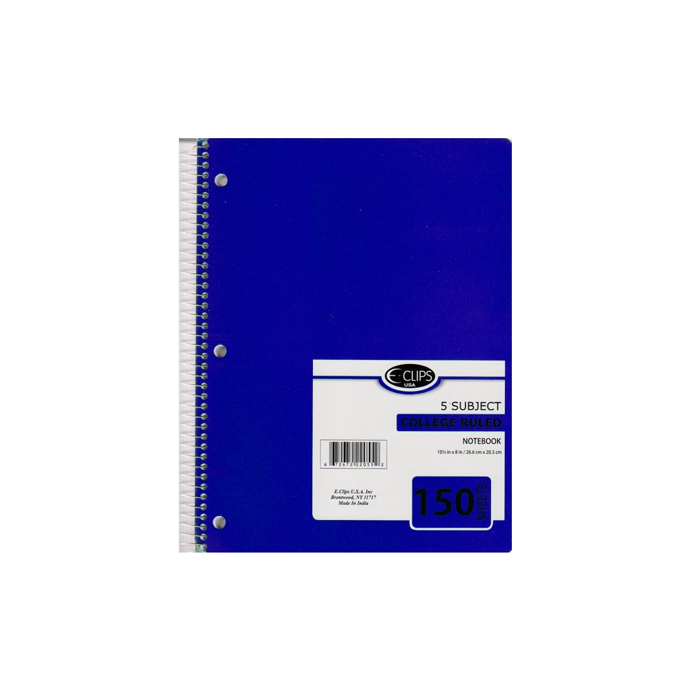36 Units of 5 Subject Spiral Notebook College Ruled 150 sheets - Notebooks