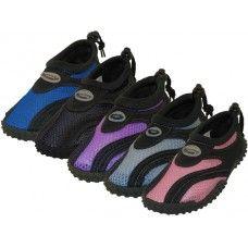 "36 Units of Children's ""Wave"" Aqua Socks in Assorted Colors - Kids Aqua Shoes"