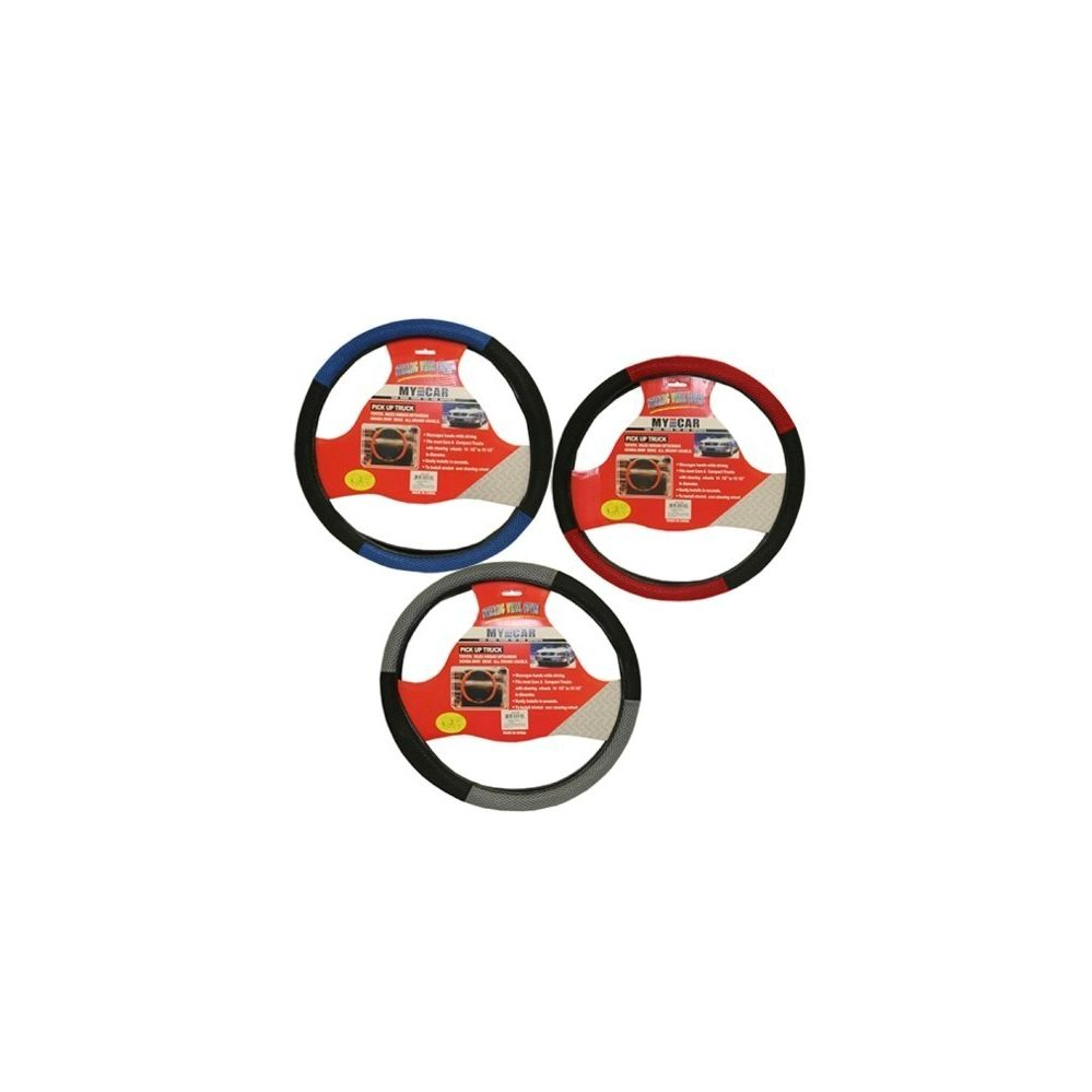 96 Units of STEERING WHEEL COVER ASST COLOR - Auto Steering Wheel Cover