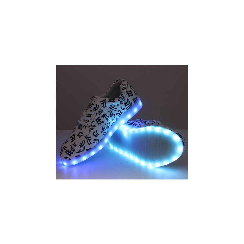6 Units of LED SHOES KIDS MIX SIZE WHITE WITH MUSICAL NOTES