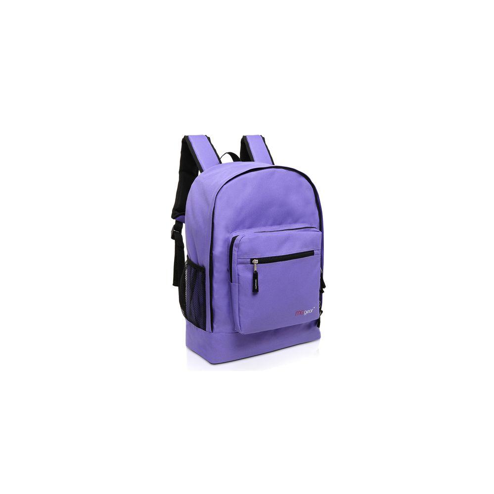 20 Units Of Mggear 17 5 Inch Multi Pocket School Book Bags In Bulk Purple Backpacks