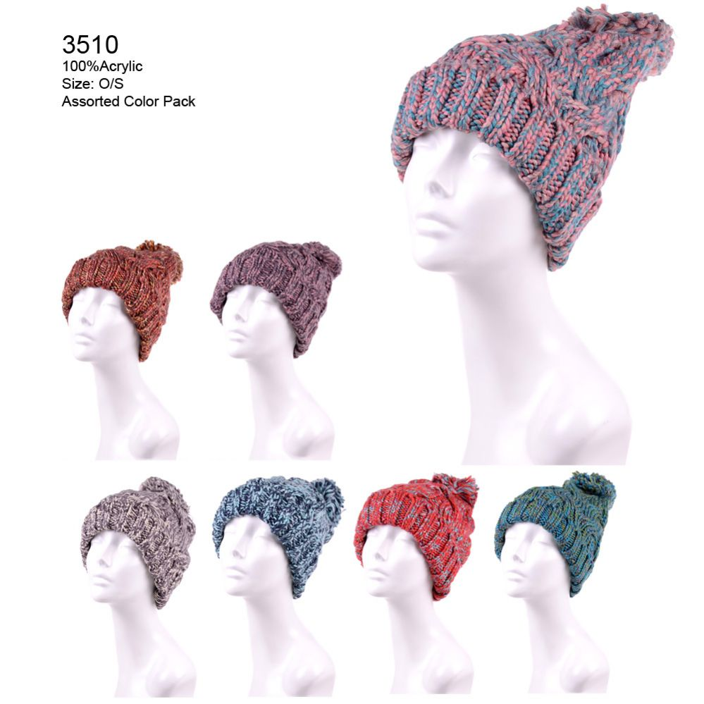 292c48c5051dc2 24 Units of Womans Multicolor Winter Hat - Fashion Winter Hats - at -  alltimetrading.com