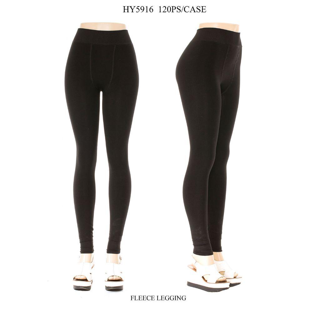 ed0206757 48 Units of Ladies Fleece Lined Legging In Black Size M-L - Womens Leggings  - at - alltimetrading.com