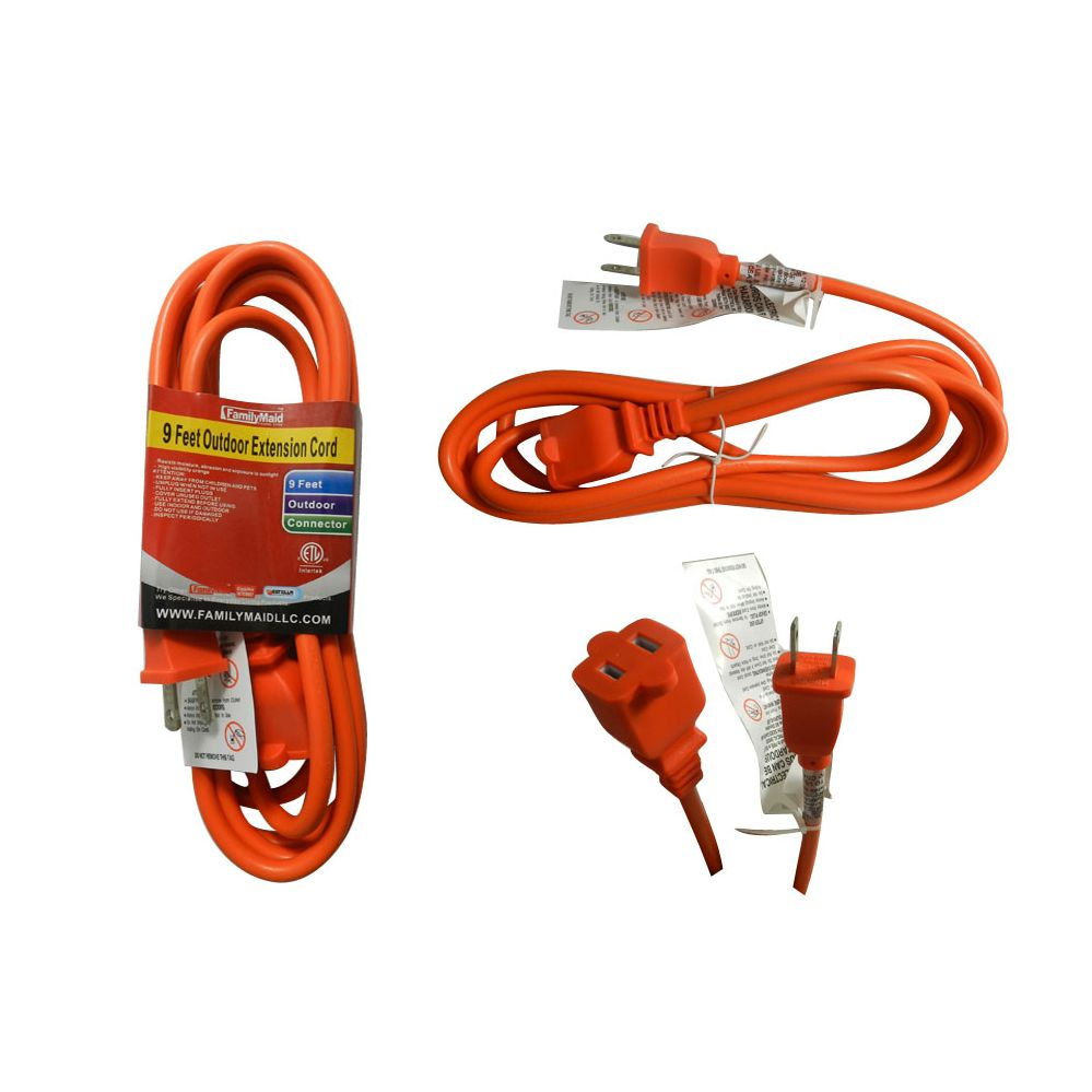 36 Units Of 9 Foot Outdoor Extension Cord Chargers Adapters