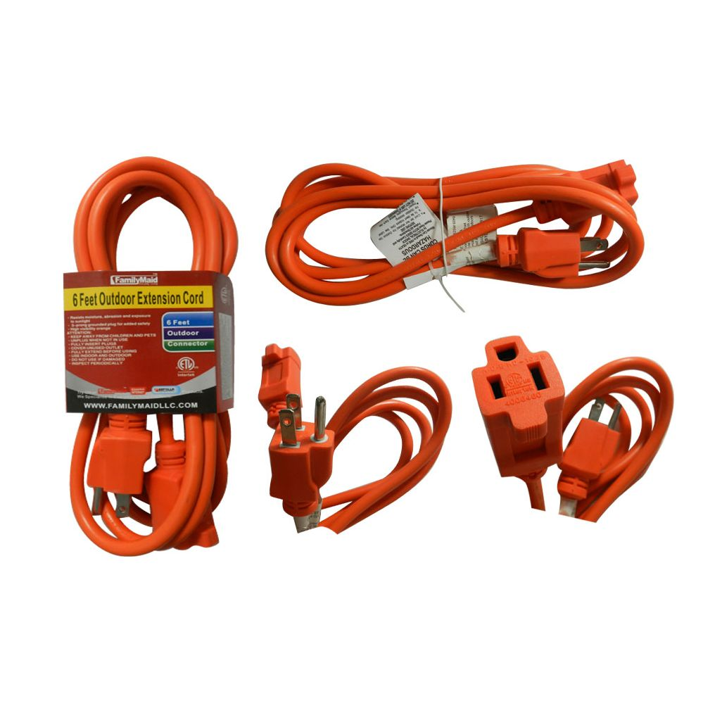48 Units Of 6 Foot Outdoor Extension Cord Chargers Adapters