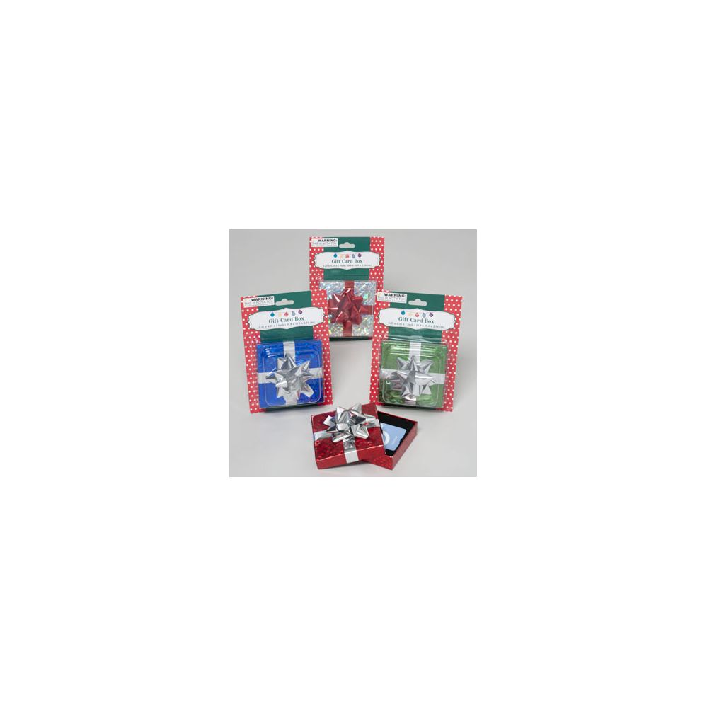 96 Units Of Gift Card Box Xmas Christmas Gift Bags And Boxes