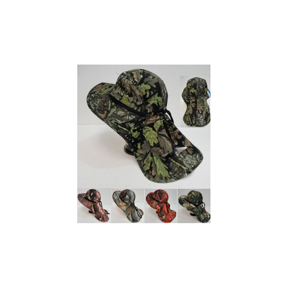 24 units of wholesale camo summer hunting fishing hat with for Fishing neck cover