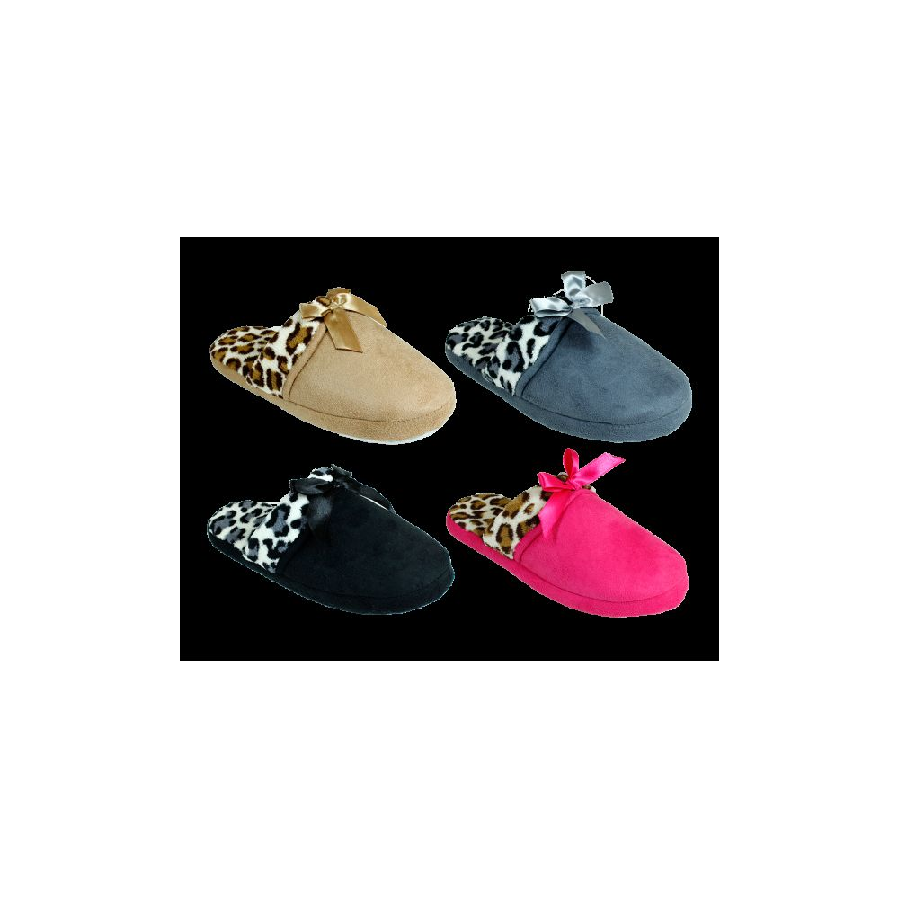 72 Units of Women's Winter Printed Slippers