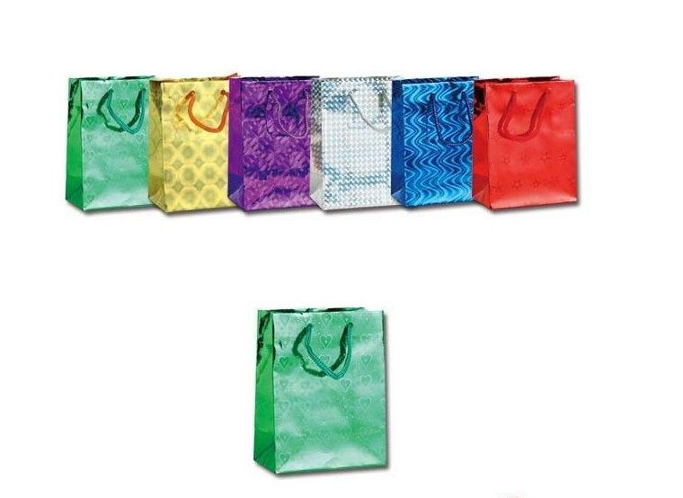 144 Units of Small Holographic Gift bag