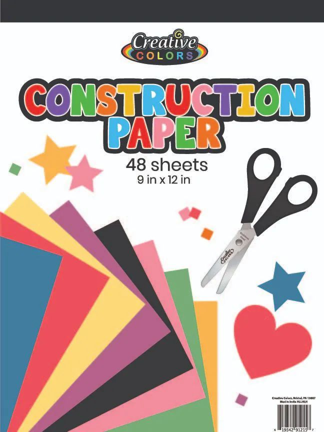 96 Units of Construction Paper 9X12IN 48 Sheets - PAPER