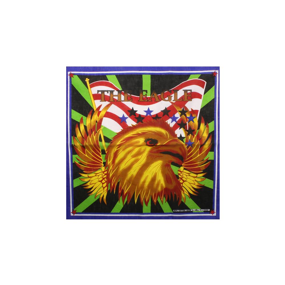 36 Units of AMERICAN FLAG EAGLE PRINT BANDANA IN 100% COTTON - Bandanas -  at - alltimetrading.com 983a61bf833e