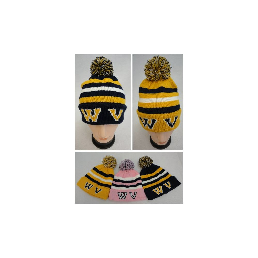 36 Units of Knitted Toboggan with PomPom [WV]