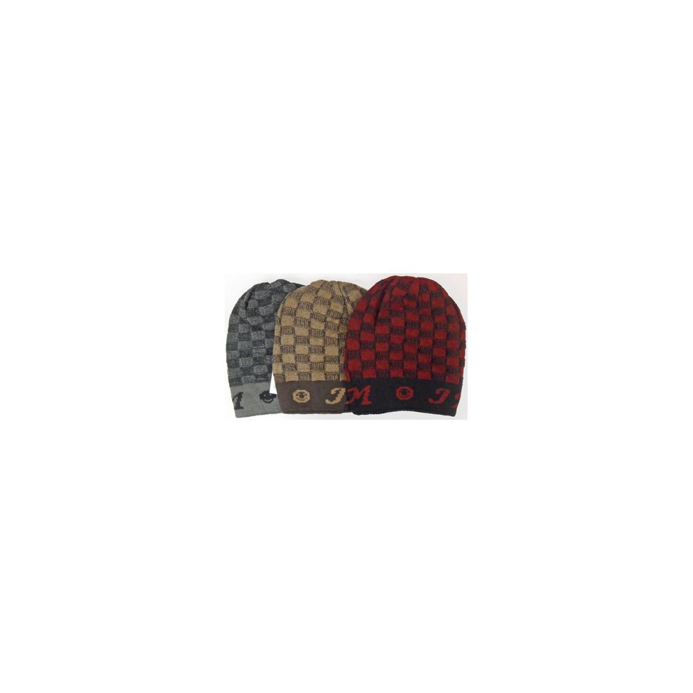 60 Units of Plaid Ski Hat with Lining