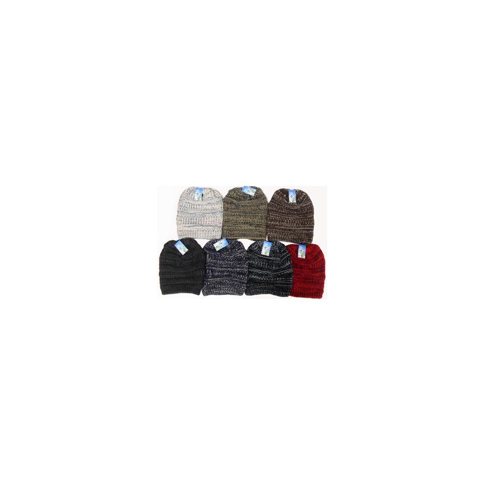 60 Units of Knit Ski Hat-Fleece Lining