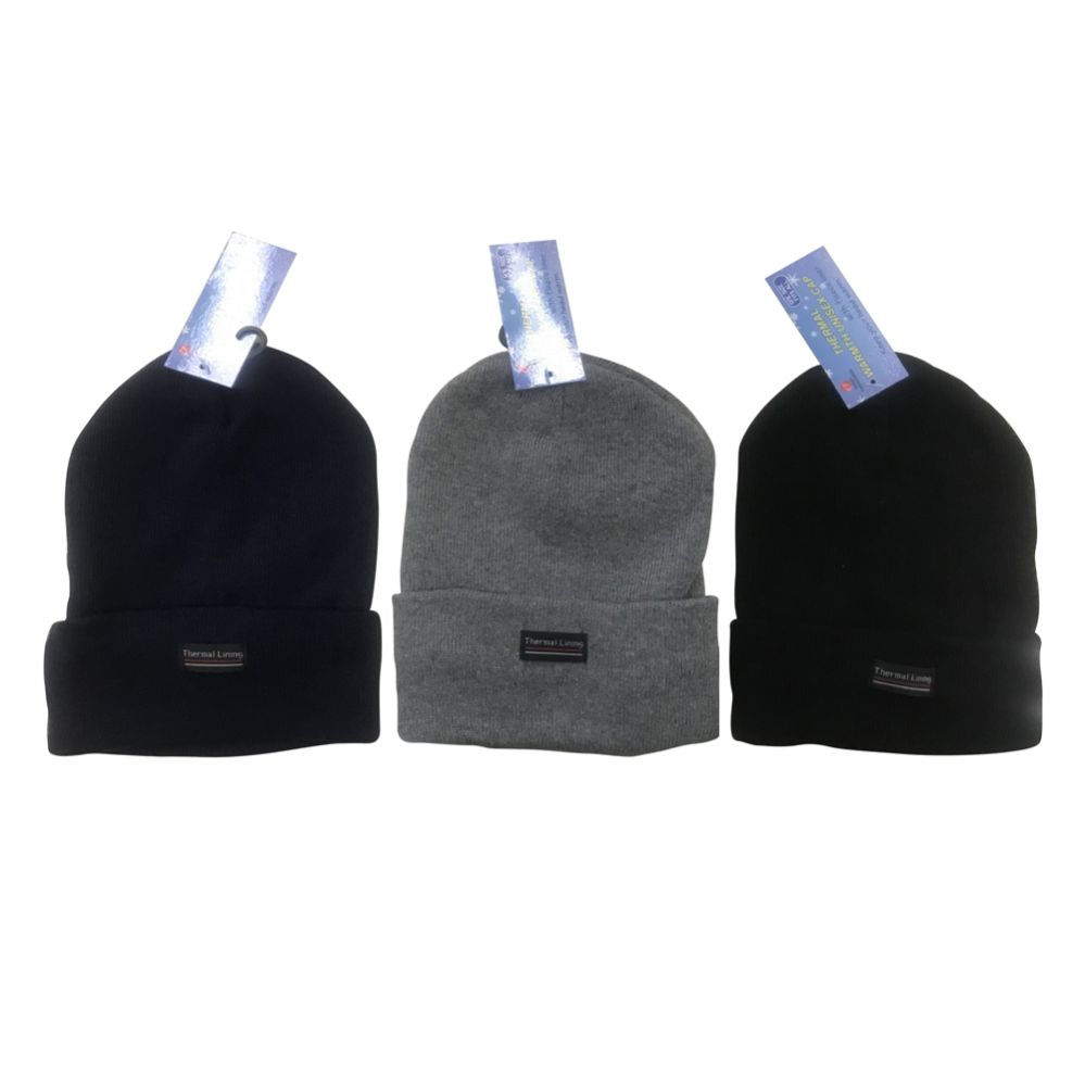 96 Units of UNISEX CAP WITH FLEECE LINER ASSORTED COLORS