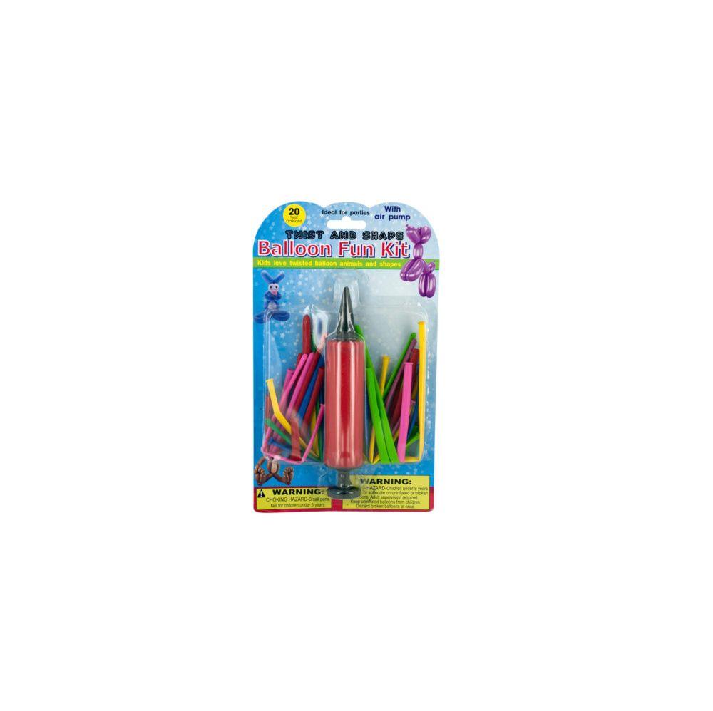 72 Units of Twist & Shape Balloon Fun Kit with Pump - Balloons/Balloon Holder