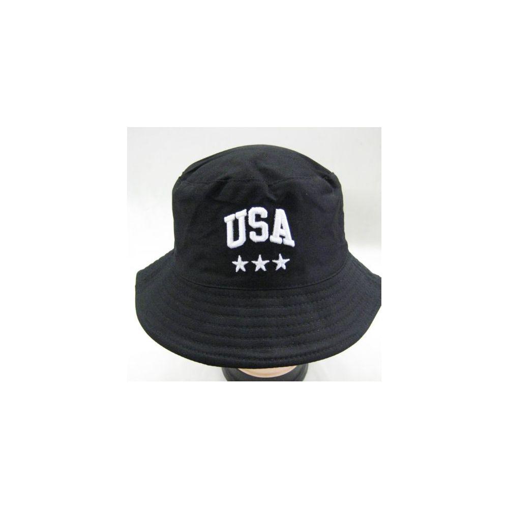 73e7abece00 24 Units of Mens Bucket Hat in Black - USA - Bucket Hats - at -  alltimetrading.com