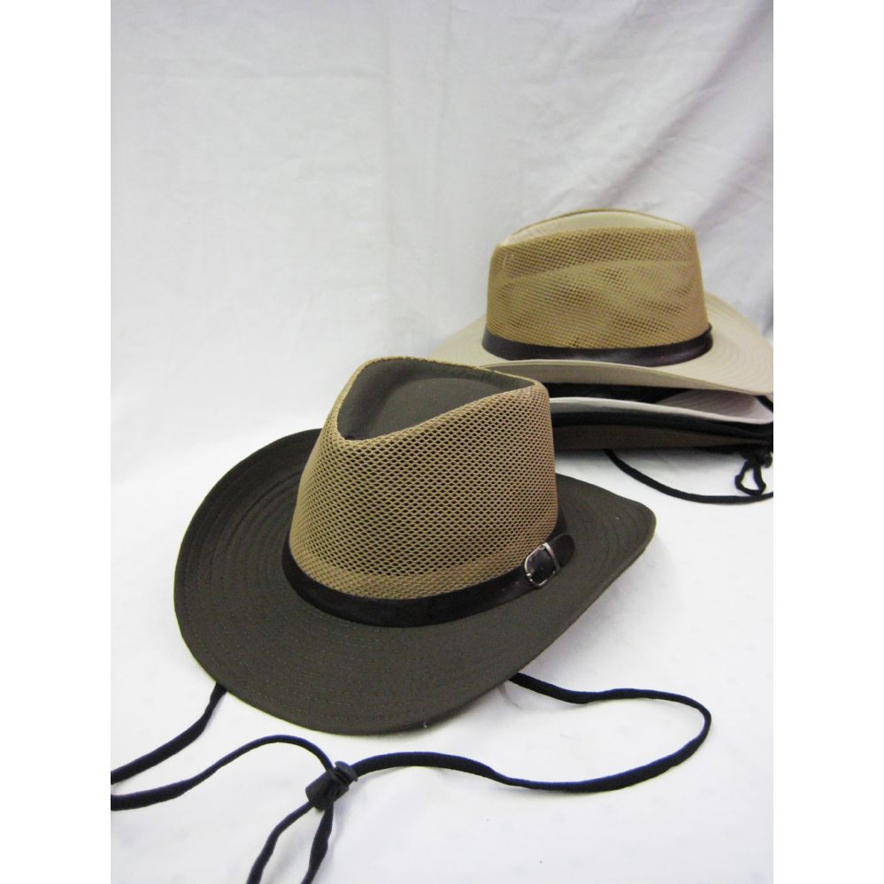 ae4408307a0dbe 24 Units of Mens Cowboy Boonie Hat in Neutral Colors - Bucket Hats - at -  alltimetrading.com