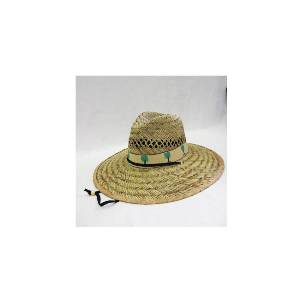 24 Units of Mens Straw Hat in Beige with Palm Tree Trim - Bucket Hats - at  - alltimetrading.com 44e7f2715744