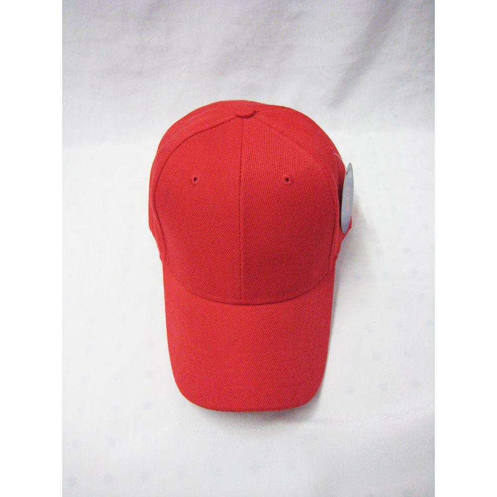 36 Units of Red Plain Baseball Cap - Baseball Caps   Snap Backs - at -  alltimetrading.com 5618bdc00d8f