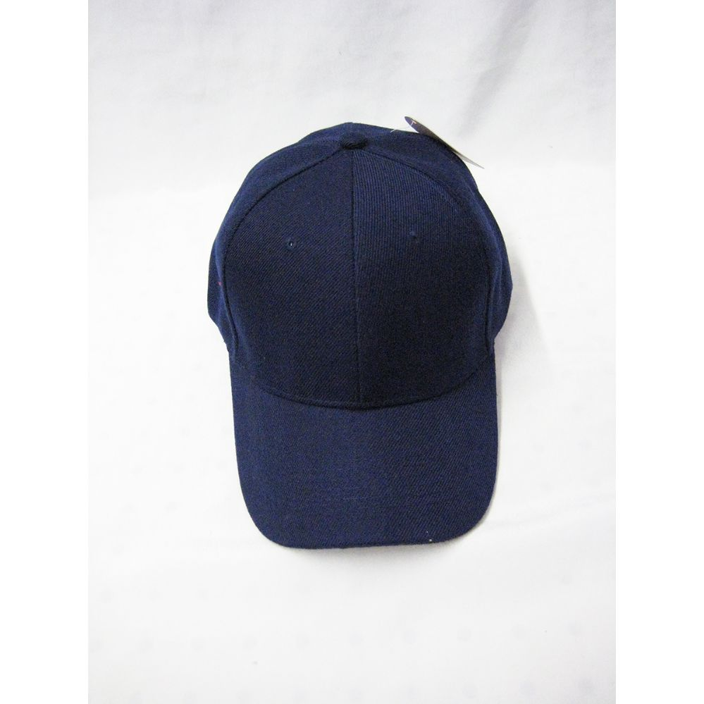a3131d0f3 36 Units of Navy Blue Plain Baseball Cap - Baseball Caps & Snap Backs