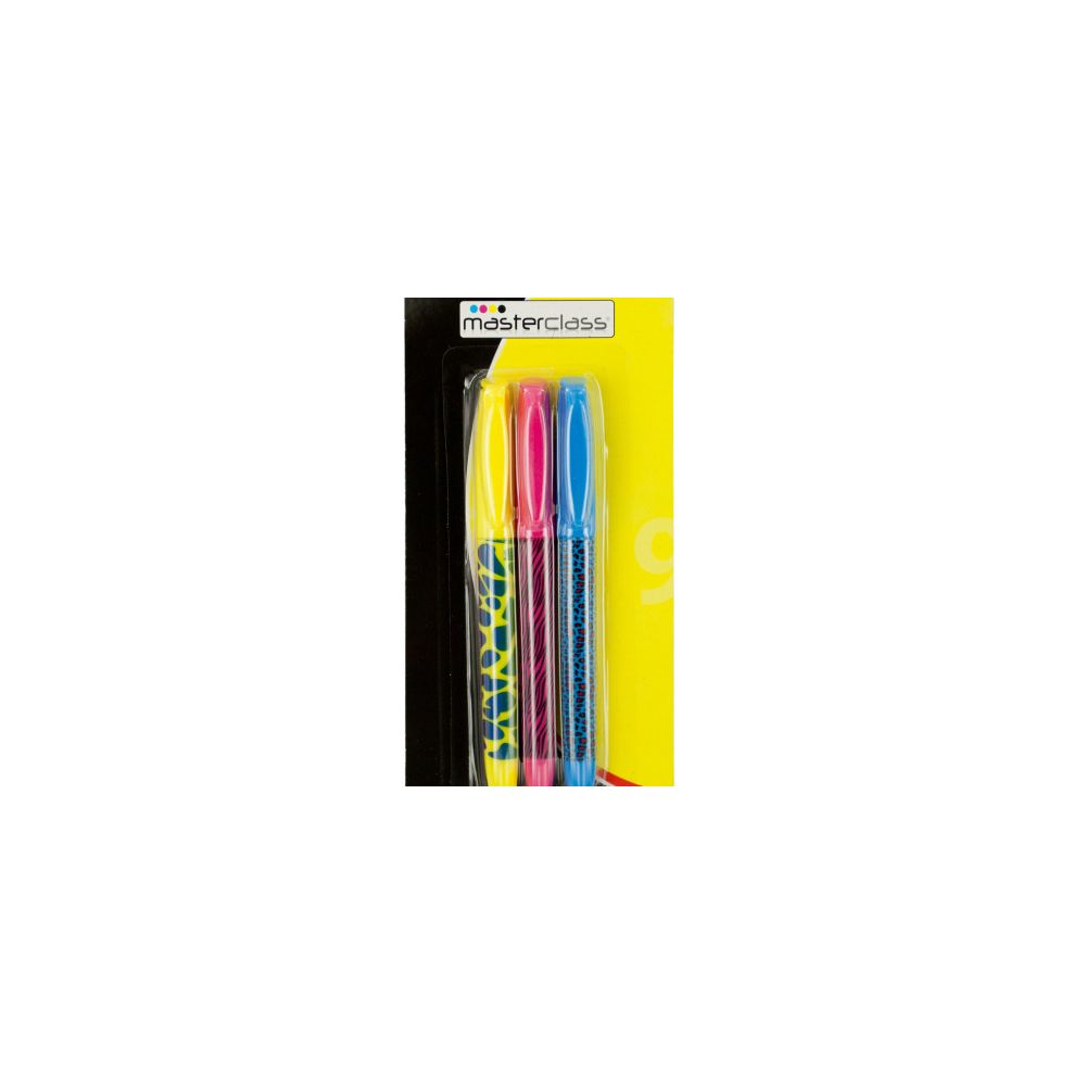 72 Units of Animal Print Fluorescent Markers Set - MARKERS/HIGHLIGHTERS