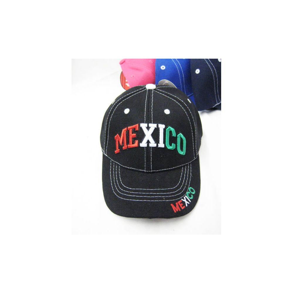 36 Units Of Mexico Kids Cap Assorted Colors Kids Baseball Caps