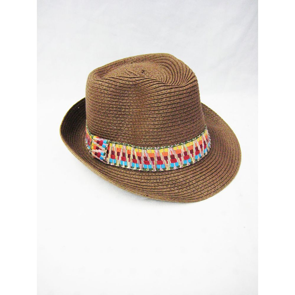 f1f4a402f 36 Units of Brown Straw Fedora Hat - Fedoras, Driver Caps & Visor
