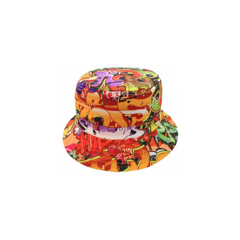 9a508329 24 Units of GRAFFITI PRINT BUCKET HATS IN ORANGE - Bucket Hats - at -  alltimetrading.com