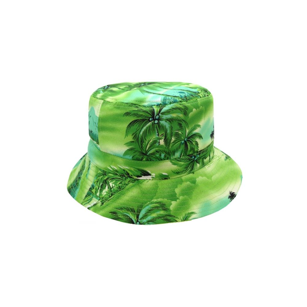 8dc38d64f50 24 Units of TROPICAL PRINT REVERSIBLE BUCKET HATS IN GREEN - Bucket Hats -  at - alltimetrading.com