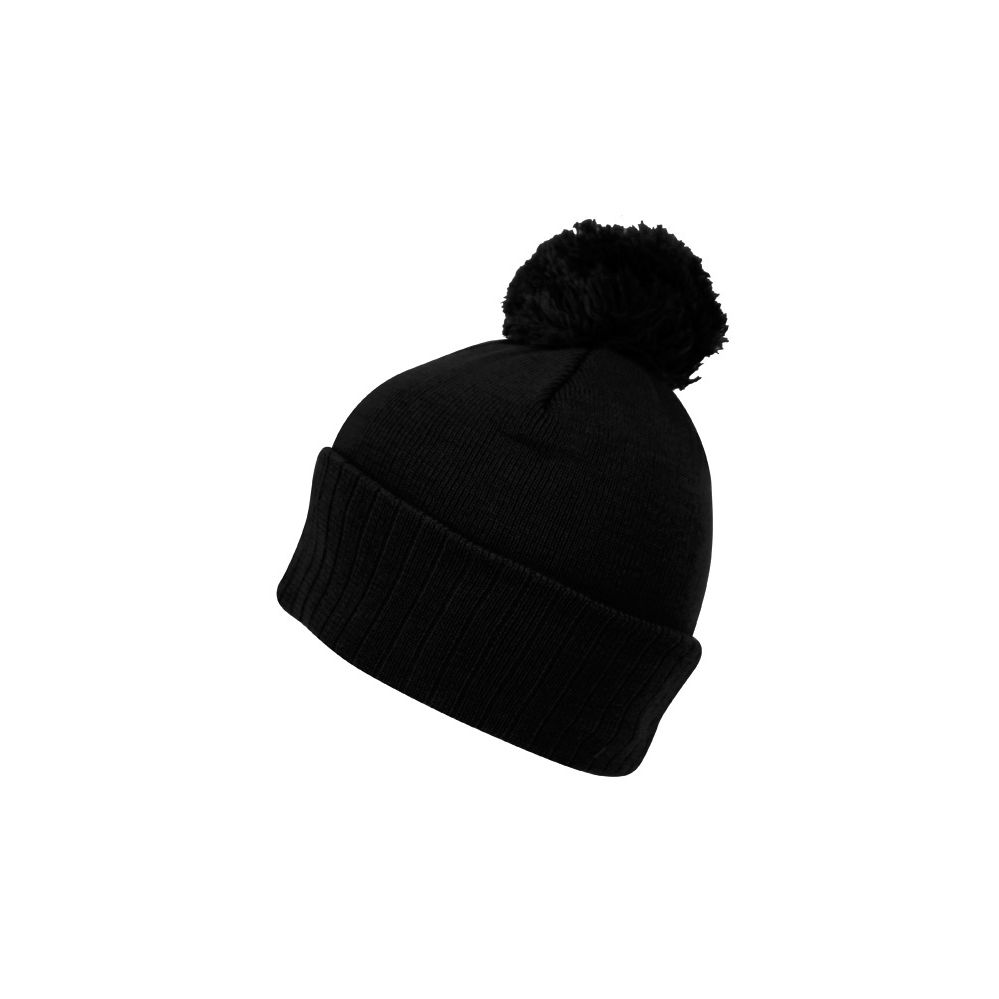 24 Units of BEANIES WITH POMPOM IN BLACK - Fashion Winter Hats - at -  alltimetrading.com 24fcd91fcb7