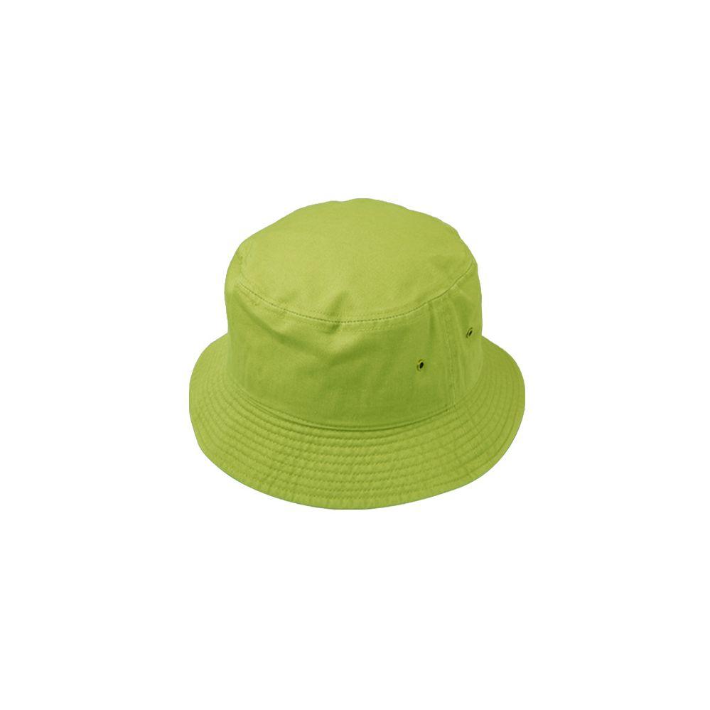6a04fb2b4af 12 Units of PLAIN COTTON BUCKET HATS IN LIME GREEN - Bucket Hats - at -  alltimetrading.com