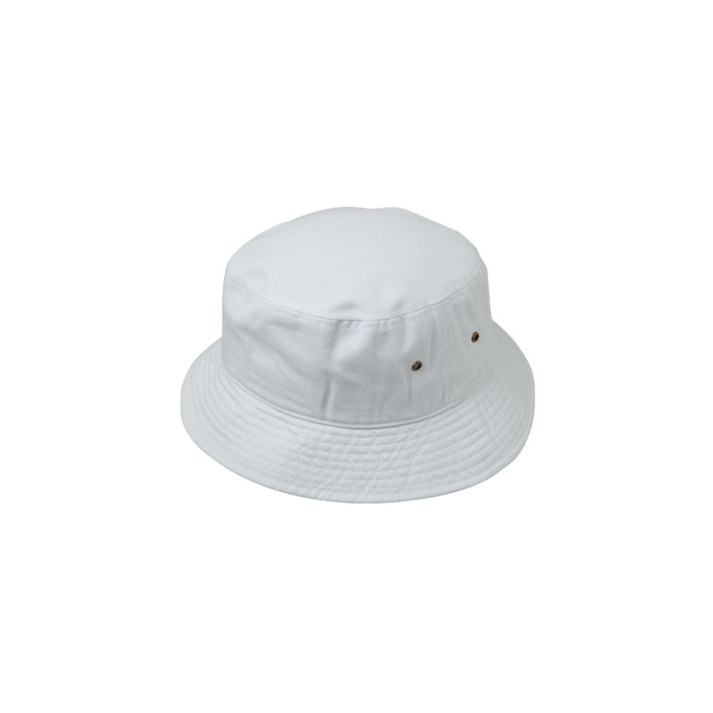 12 Units of PLAIN COTTON BUCKET HATS IN WHITE - Bucket Hats - at -  alltimetrading.com c8650401c47