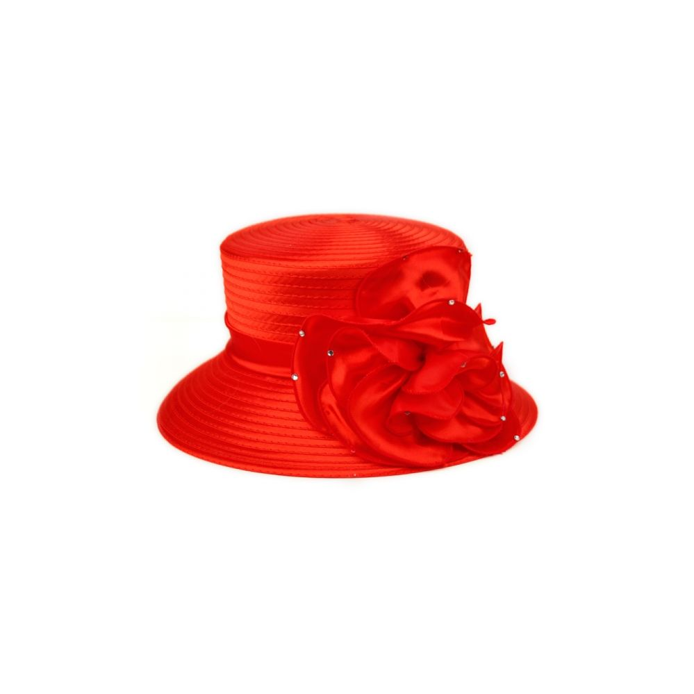 12 Units of SINAMAY HATS IN RED - Church Hats