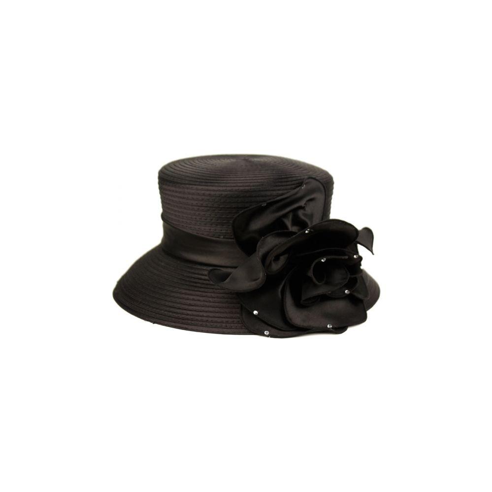 12 Units of SINAMAY HATS IN BLACK - Church Hats