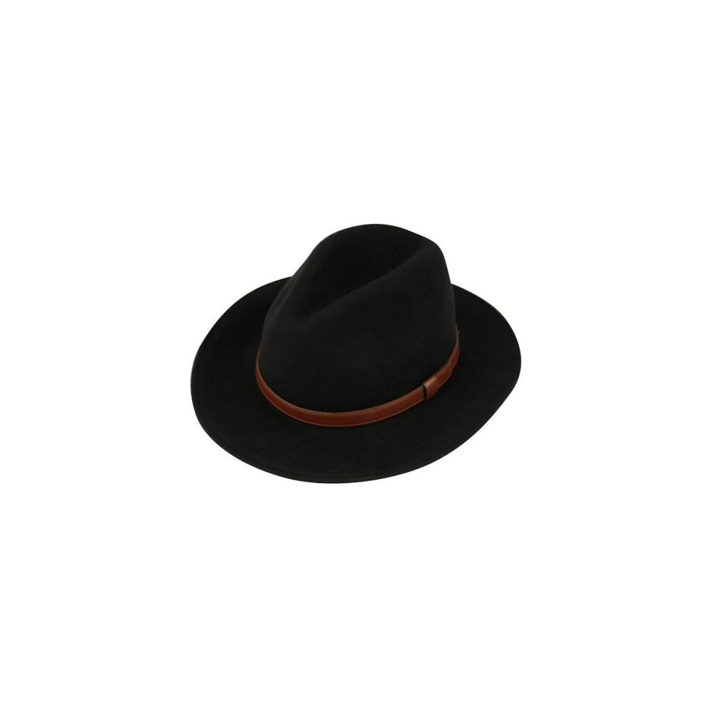 12 Units of MEN S WOOL FELT FEDORA HATS WITH LEATHER BAND - Fedoras ... c990051743a