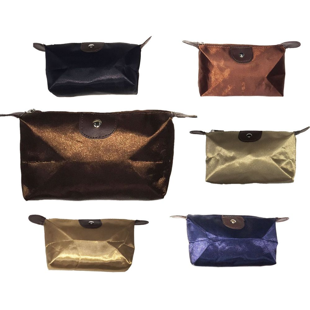 120 Units of MINI COSMETIC BAG IN ASSORTED COLOR PACKS - Cosmetic Cases