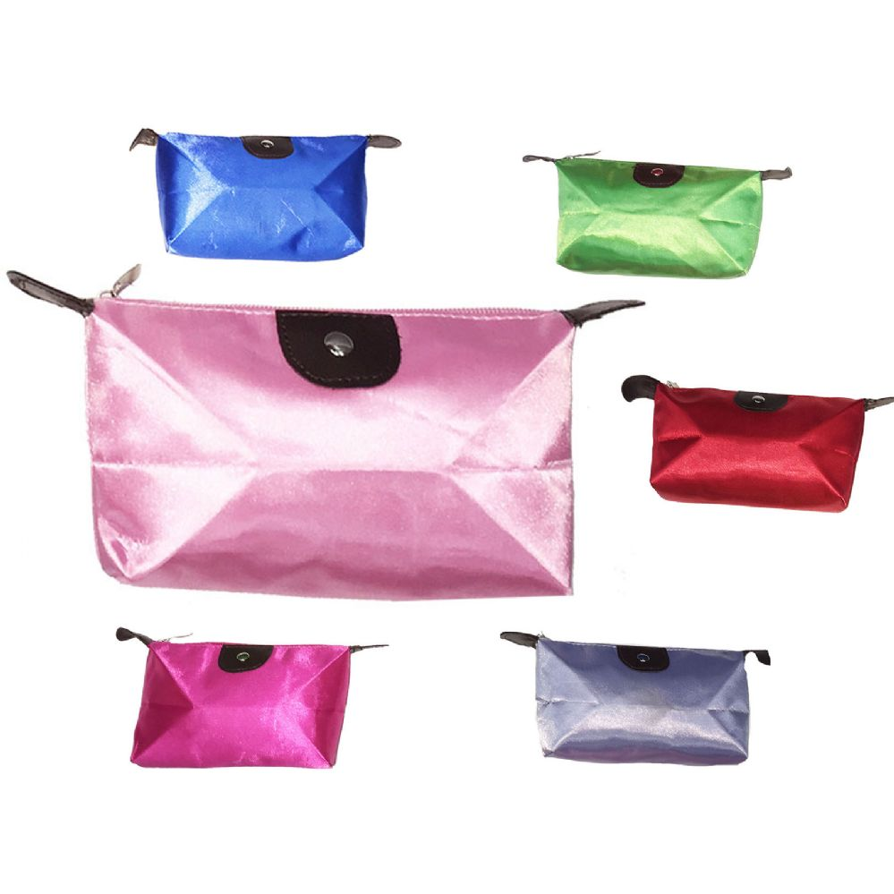 120 Units of MINI COSMETIC BAG IN ASSORTED COLOR PACKS